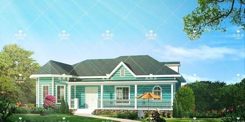 澤尚美宅輕鋼別墅一層戶型及項目圖 - 纖維水泥木紋板